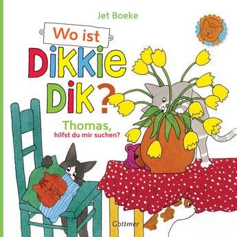 Buch mit Namen Wo ist Dikkie Dik (Softcover)