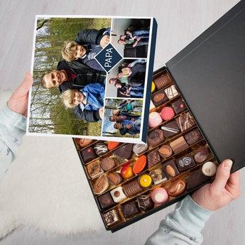 Pralinen mit Foto Vatertag 49 Stück