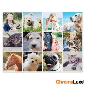 Fototafel ChromaLuxe 80x40 cm gebürstet
