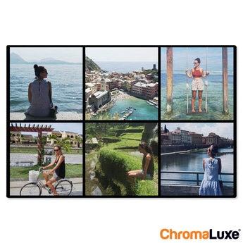 Instagram Collage auf Aluminium Chromaluxe Gebürstet (30x20)
