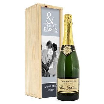 Champagner in bedruckter Kiste Rene Schloesser (750 ml)