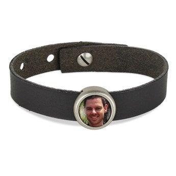 Schiebeperlen Armband schwarz 1 Perle