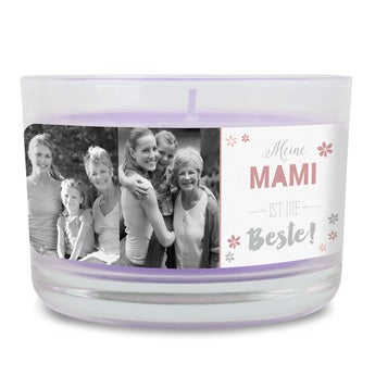 Duftkerze im Glas Muttertag Lavendel