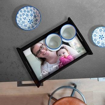 Tablett Muttertag Schwarz Medium