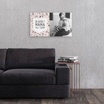Leinwand bedrucken Muttertag 60x40 cm