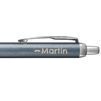 Parker IM Kugelschreiber Rechtshänder (Blau Grau)