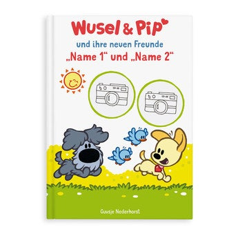 Kinderbuch Wusel Pip Geschwister Zwillinge XL Softcover