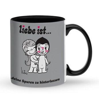 Tasse Schwarz Liebe ist ...