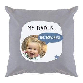 Father's Day pillow - Light Grey