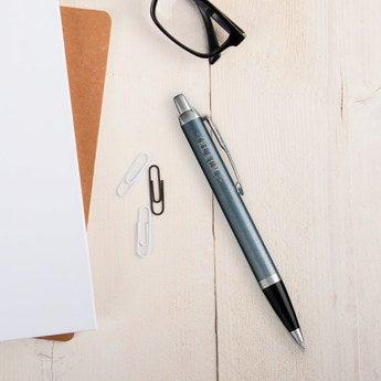 Parker IM Kugelschreiber Linkshänder (Blau Grau)