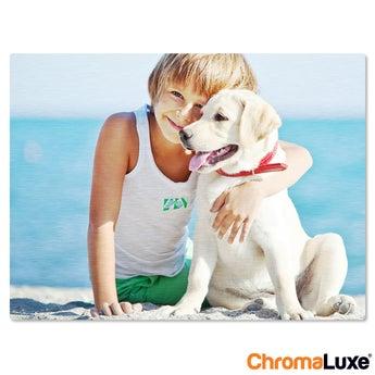 Fototafel ChromaLuxe 75x50 cm gebürstet