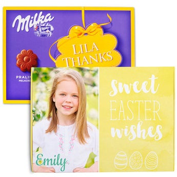 Chocobox - I love Milka! - Easter - Flower 110 gram