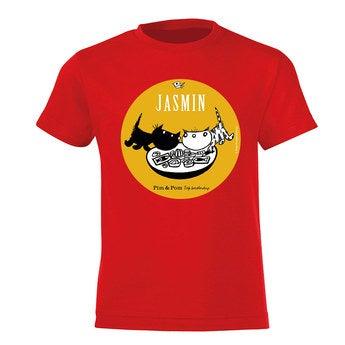 Pim Pom T Shirt Kinder Rot 4 Jahre