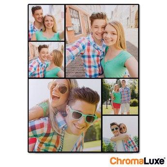Instagram Collage auf Aluminium Chromaluxe Weiß (30x40)