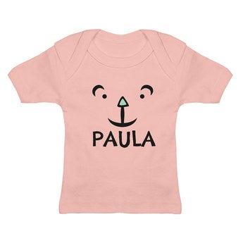 Baby T Shirt Rosa 0 6 Monate
