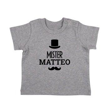 Baby T Shirt Kurzarm Grau meliert 62 68