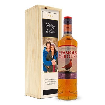 Famous Grouse in personalisierter Kiste