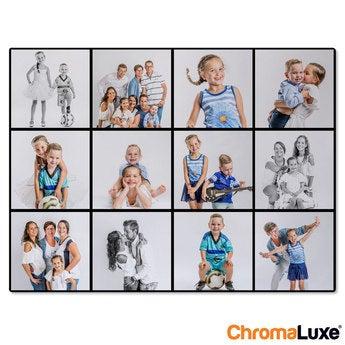 Instagram Collage auf Aluminium Chromaluxe Weiß (40x30)