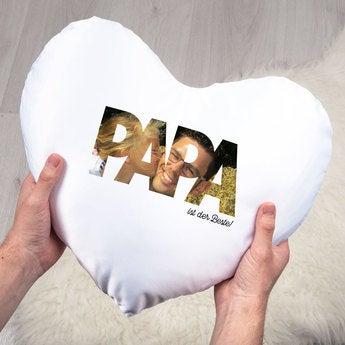 Vatertag Kissen Herz