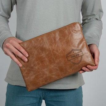 Laptoptasche Leder Braun 11 inch 11 Zoll
