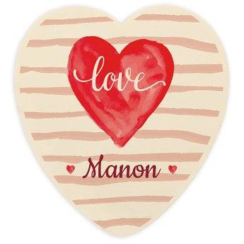 Coeur en chocolat Saint Valentin