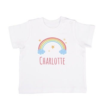 Baby T Shirt Kurzarm Weiß 62 68
