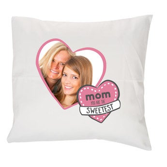 Mother's Day pillow - White