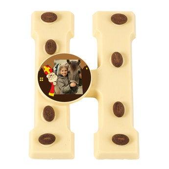 Schokoladenbuchstabe Weiß