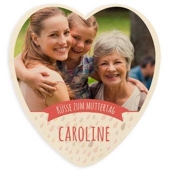 Schokoladenherz Muttertag Groß Komplett Weiß