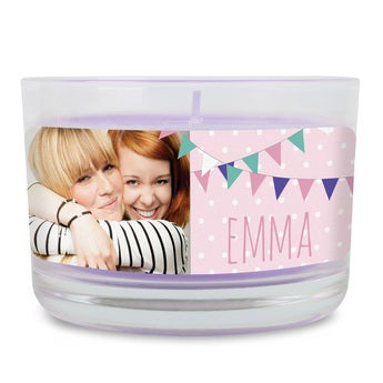 Duftkerze im Glas Lavendel