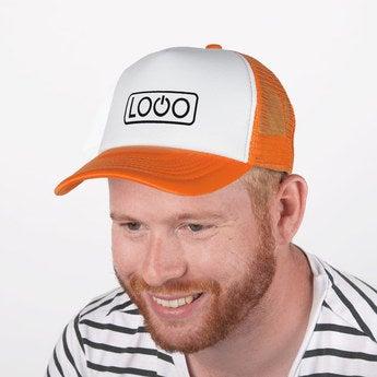 Trucker Cap orange weiß