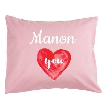 Liefdeskussen - 50x60cm - gevuld - roze