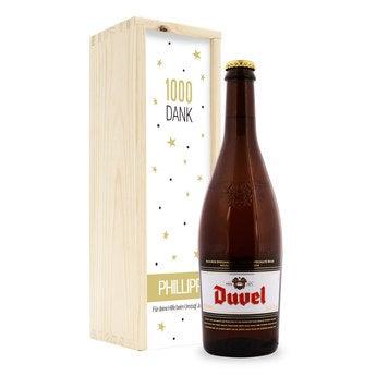 Personalisiertes Bier Duvel Moortgat