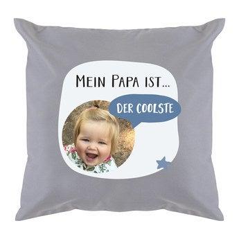 Vatertag Kissen Hellgrau