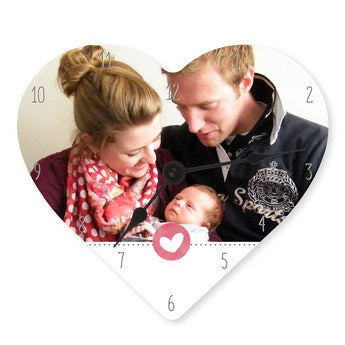 Mother's Day clock - Heart (hardboard)