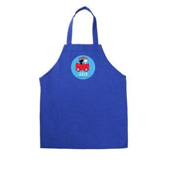 Kinderschürze Pim Pom Blau