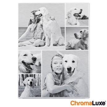 Fototafel ChromaLuxe 50x75 cm gebürstet