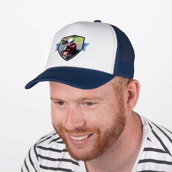 Trucker Cap blau weiß