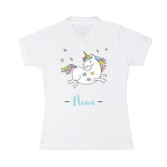 Poloshirt Damen Weiß XL