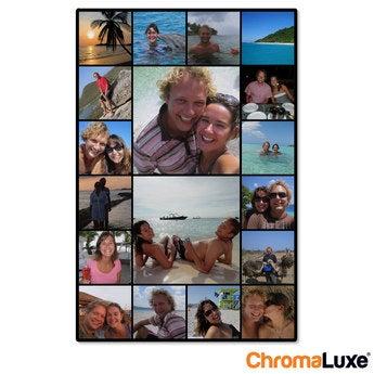 Instagram Collage auf Aluminium Chromaluxe Weiß (20x30)