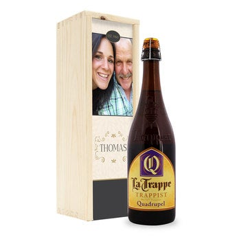 Bier La Trappe Quadrupel in Kiste