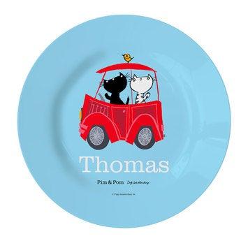 Kinderteller Pim und Pom Auto (1)