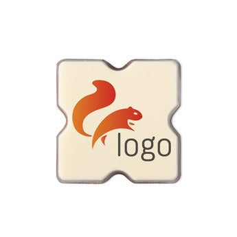 Pralinen mit Logo Quadrat