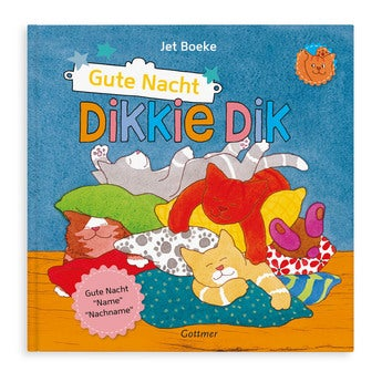 Buch mit Namen Dikkie Dik Gute Nacht (Hardcover)