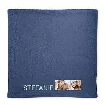 Handtuch mit Foto Blau