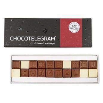 Chocotelegram Luxuriöse Geschenkverpackung 2x10