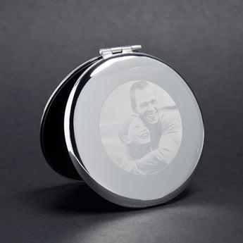 Taschenspiegel rund Gravur
