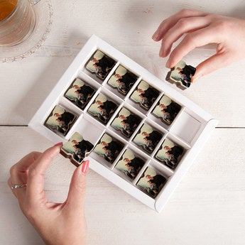 Pralinen mit Foto Viereck