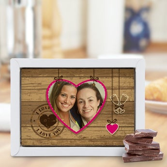 Schokolade Muttertag Komplett weiß