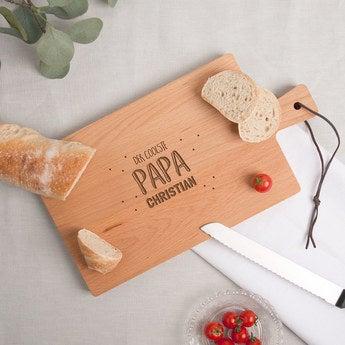 Vatertag Holzbrett mit Gravur Buche horizontal